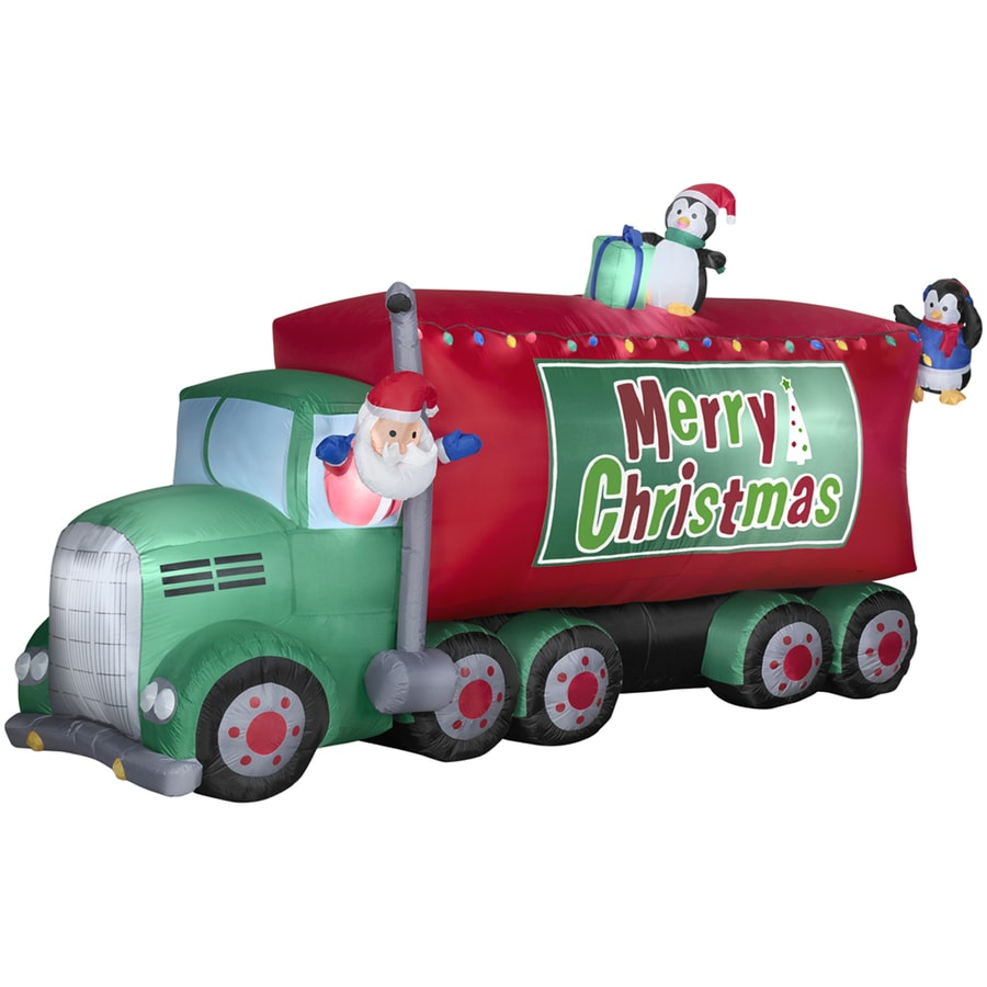 blow up christmas camper images