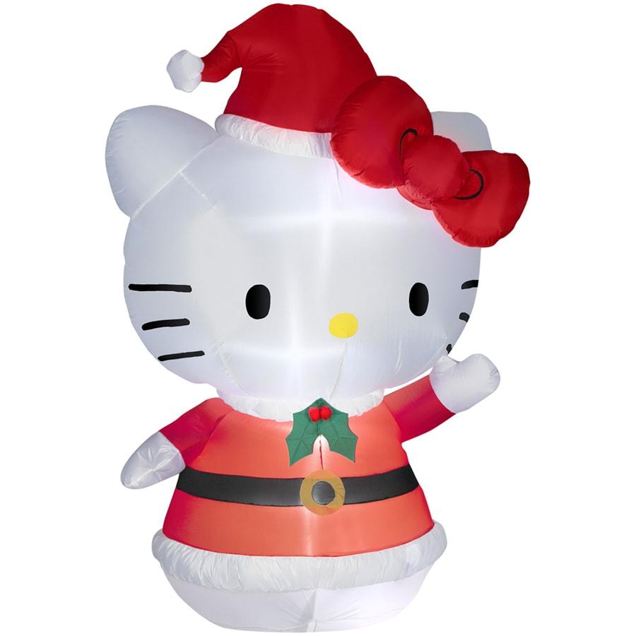Holiday Living 5.51-ft Inflatable Fabric Christmas Hello Kitty