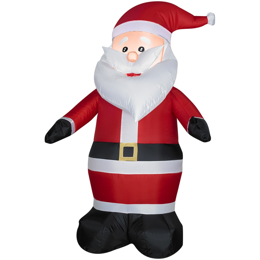 Holiday Living 4-ft Inflatable Fabric Santa