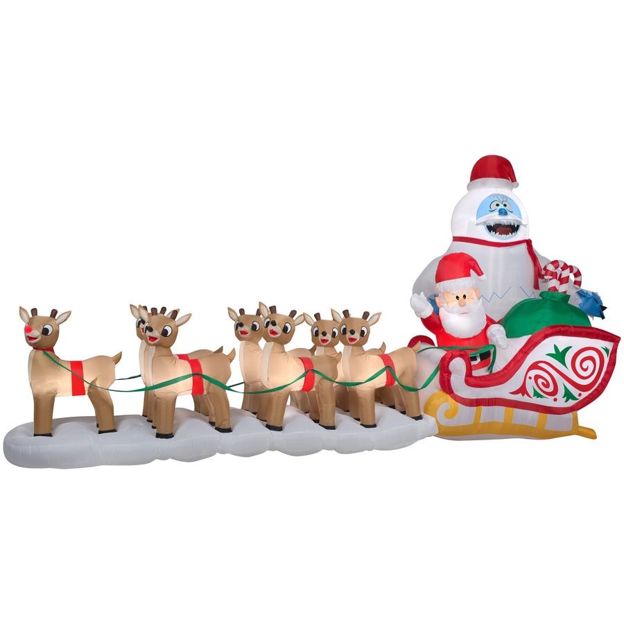 Gemmy 7.34-ft x 5.74-ft Lighted Bumble Christmas Inflatable
