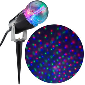 Gemmy Lightshow Projection Multi Function Multicolor Led Stars Christmas Indoor Outdoor Stake Light Projector