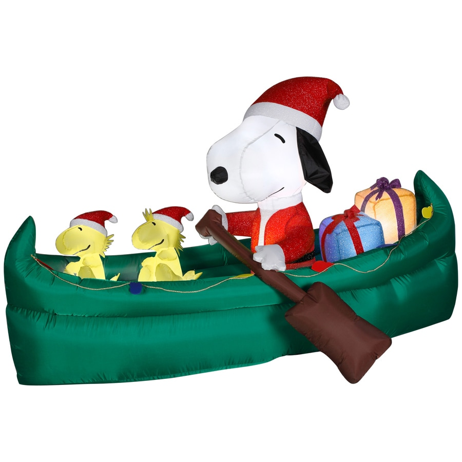Lowes Inflatable Outdoor Christmas Decorations : Gemmy ft animatronic lighted snoopy