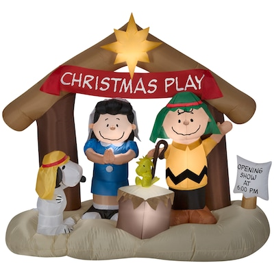 Snoopy And Woodstock Christmas Inflatable.6 Ft Lighted Snoopy Christmas Inflatable
