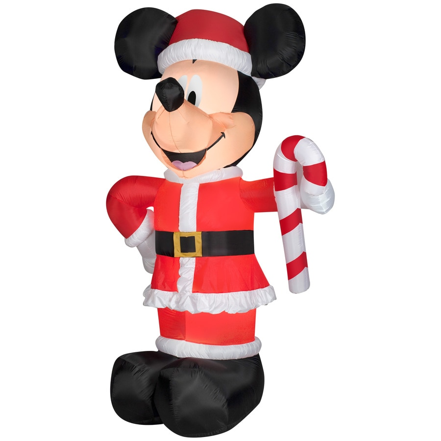 Shop Disney 10.49-ft x 3.34-ft Lighted Mickey Mouse Christmas ...