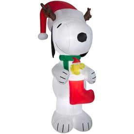 'Peanuts 10.01-ft x 4.49-ft Lighted Snoopy Christmas Inflatable' from the web at 'https://mobileimages.lowes.com/product/converted/086786/086786888087lg.jpg'