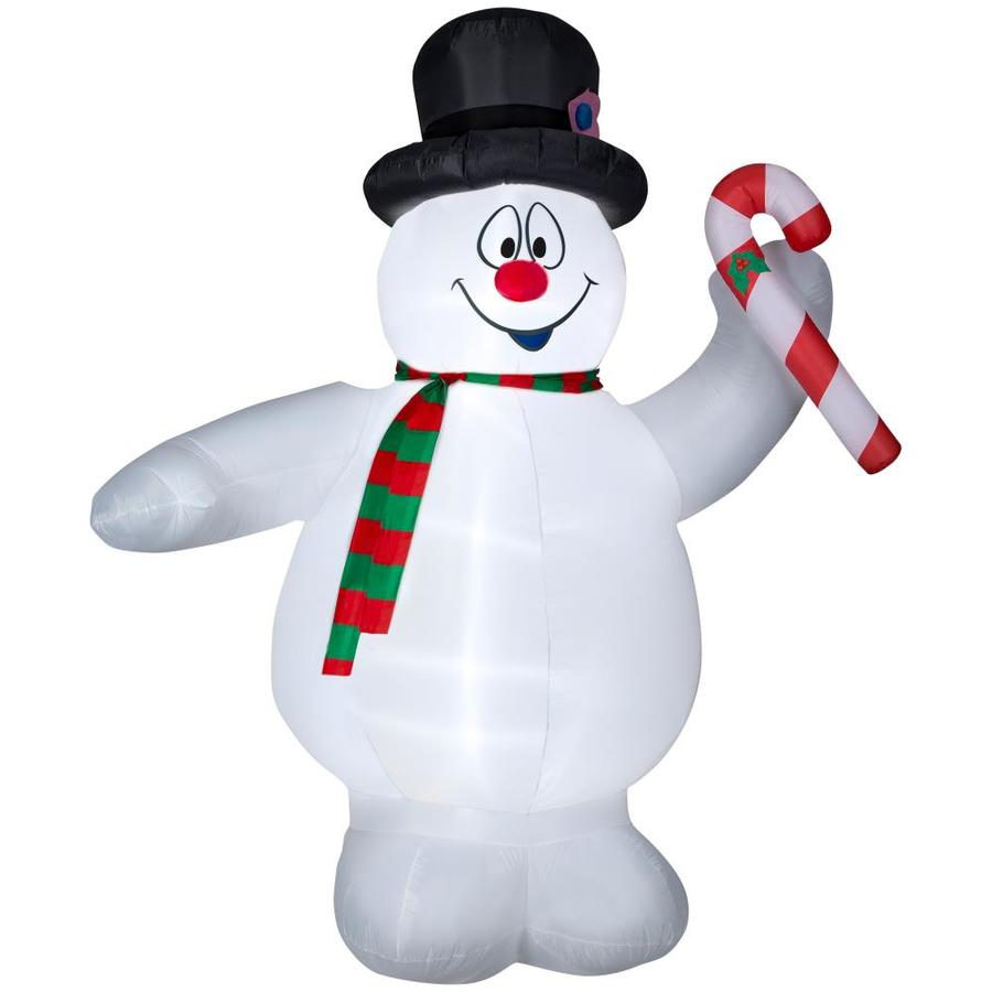 Shop Warner Brothers 8.99-ft x 6.23-ft Lighted Snowman Christmas ...