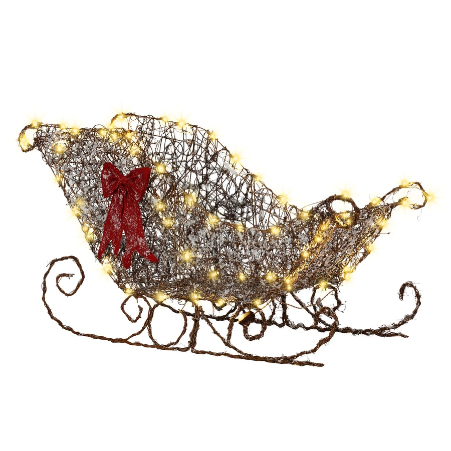 Gemmy Pre-Lit Sleigh Sculpture with Constant White Lights