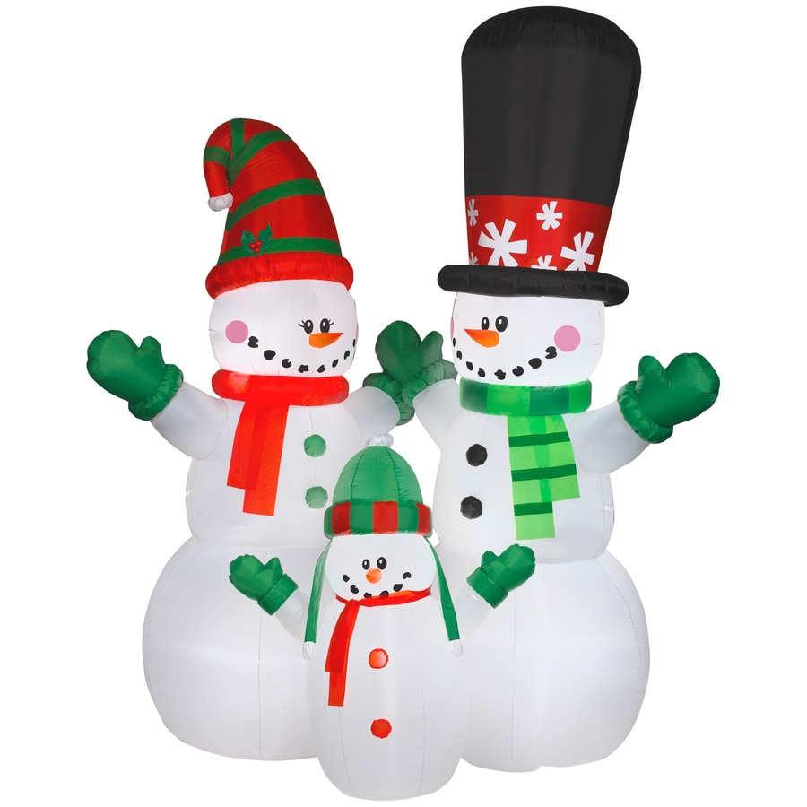 holiday living 1200 ft x 62335 ft lighted snowman christmas inflatable - Lowes Inflatable Christmas Decorations