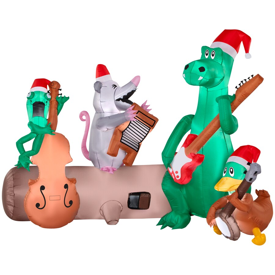 holiday living 524 ft x 37073 ft lighted alligator band christmas inflatable - Lowes Inflatables