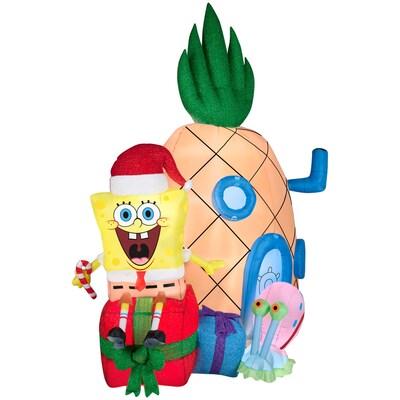 Spongebob Christmas.6 98 Ft X 3 937 Ft Lighted Spongebob Christmas Inflatable