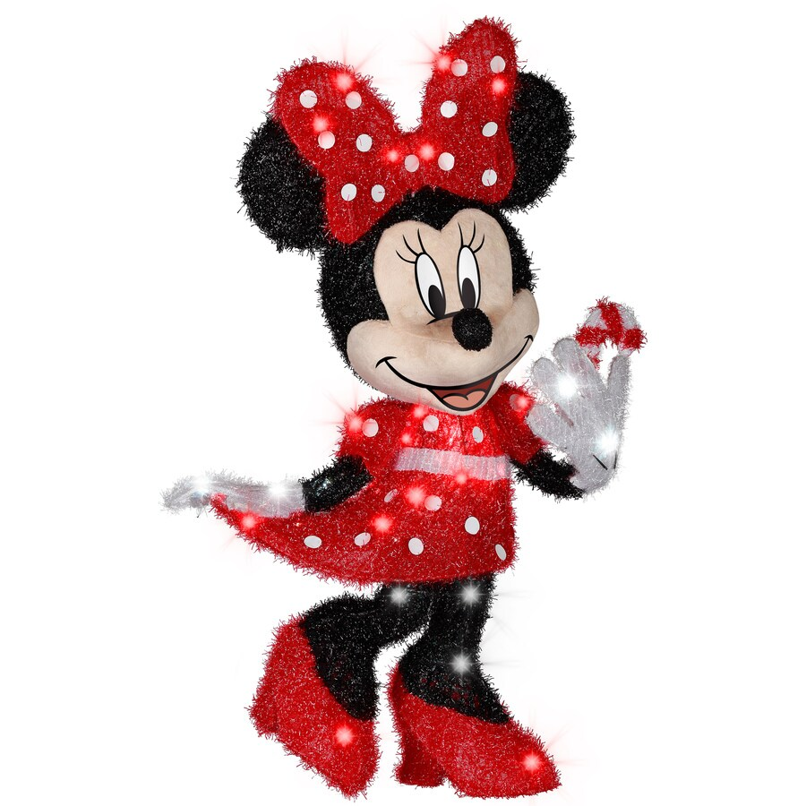 gemmy pre lit minnie mouse with twinkling clear white incandescent lights - Lit Minnie