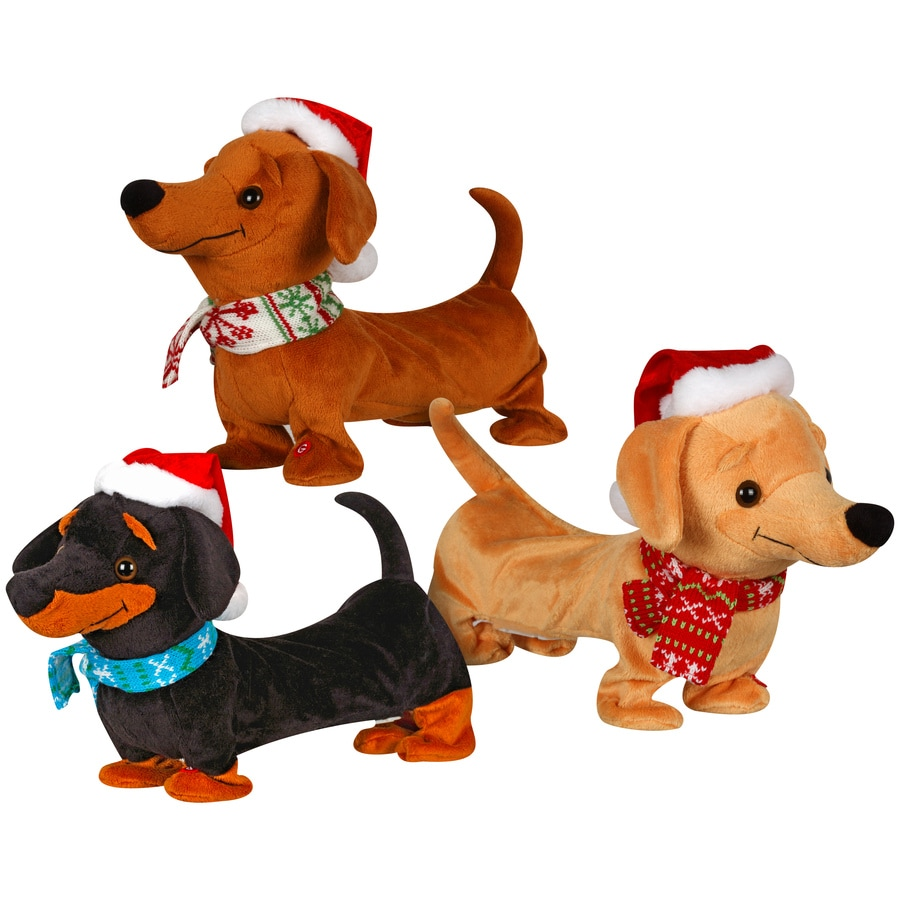 holiday living animatronic dachshund tabletop
