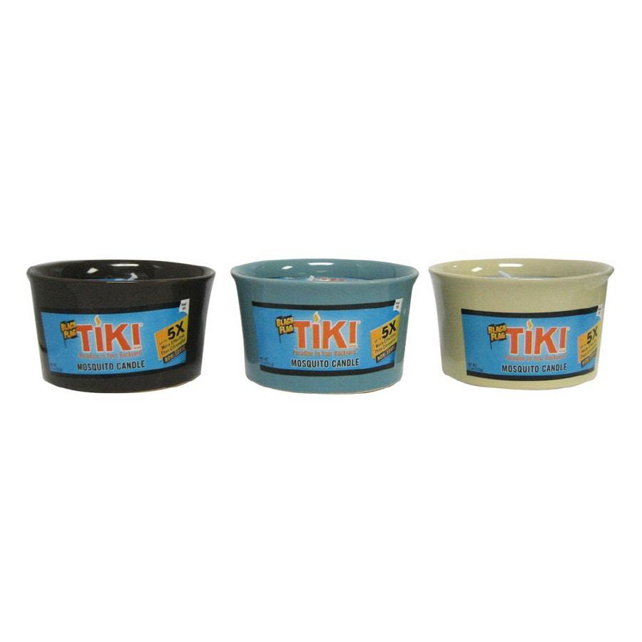 Shop TIKI 11 Oz. Black Flag Mosquito Candle at Lowes.com