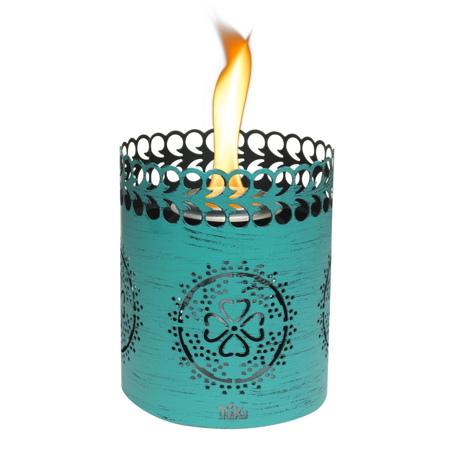 TIKI 6-in Teal Steel Tabletop Torch