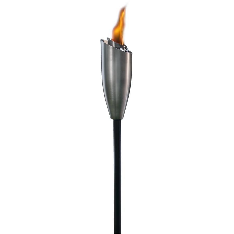 TIKI 60-in Stainless Steel Glass Garden Torch