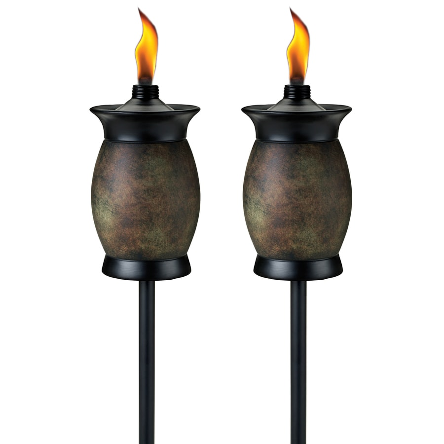 shop tiki multi use 2 pack 64 in resin garden torch at
