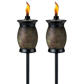Shop garden torches at lowes tiki multi use 2 pack 64 in resin garden torch workwithnaturefo