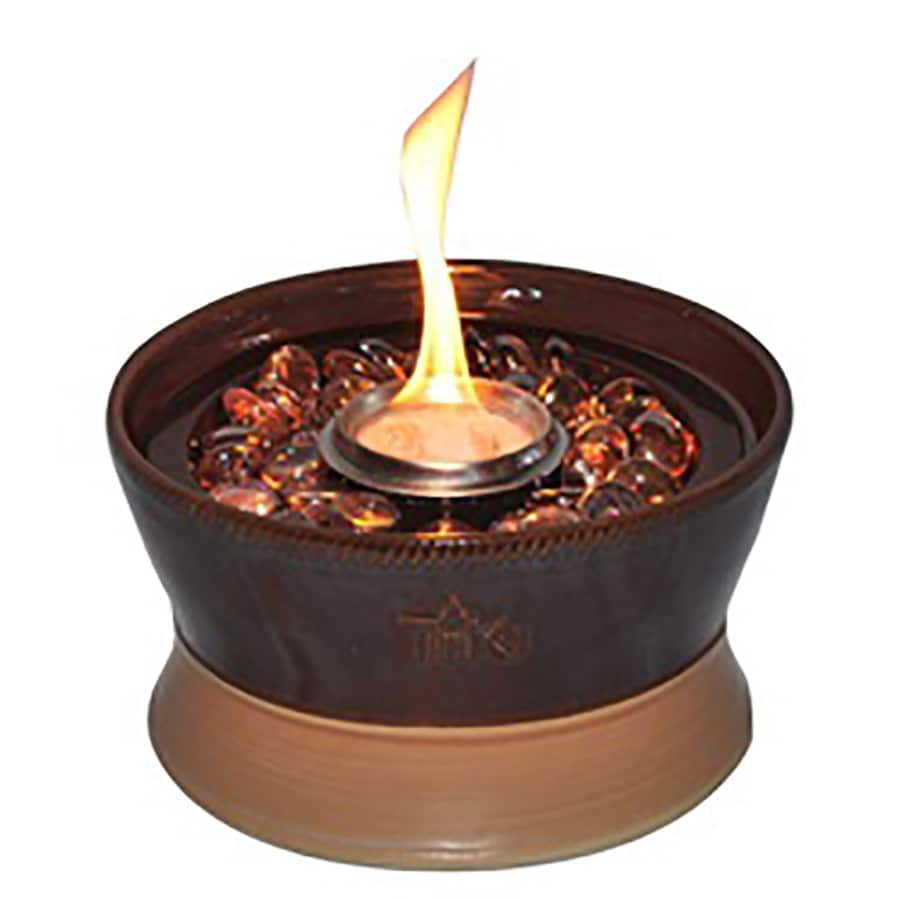 Tiki Clean Burn 7 In Chocolate Ceramic Tabletop Torch