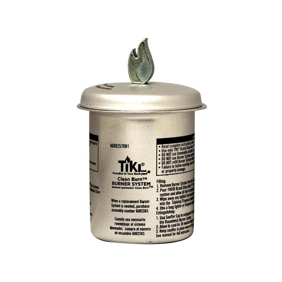 TIKI Clean Burn Firepiece Roundwick Burner System Fiberglass Torch Wick