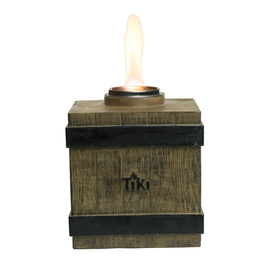 Bon TIKI Clean Burn 7 In Fire Crate Resin Citronella Tabletop Torch