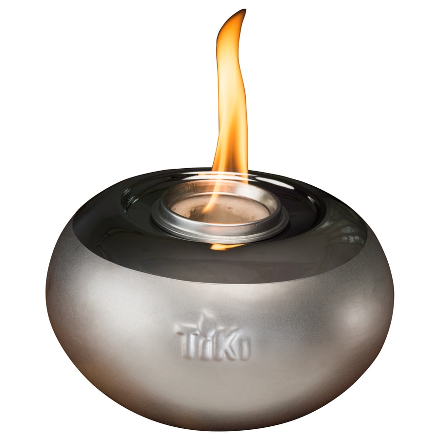 Tiki 6 In Silver Ceramic Tabletop Torch
