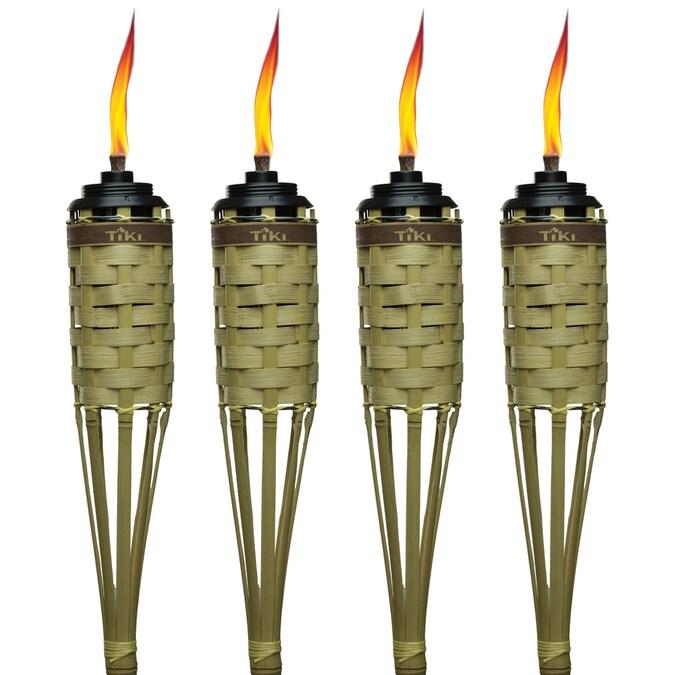 Garden Oil Torch Set of 4 Copper Look