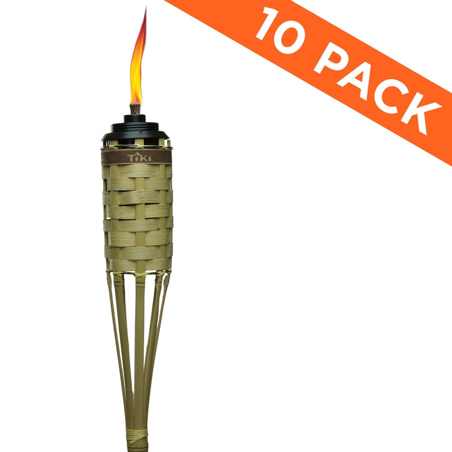 Shop Tiki 10 Pack 57 In Bamboo Garden Torch At Lowes Com