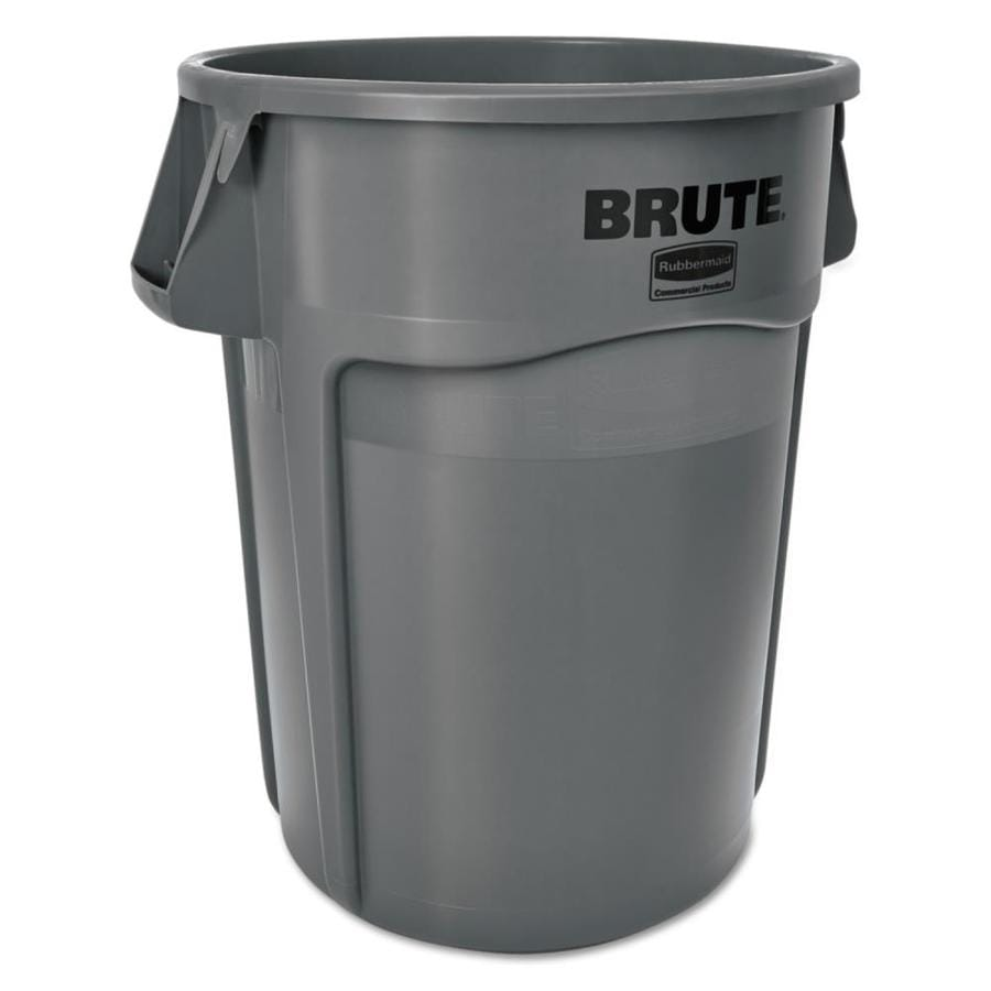 Rubbermaid Commercial Products Brute 55-Gallon Gray Plastic Trash Can