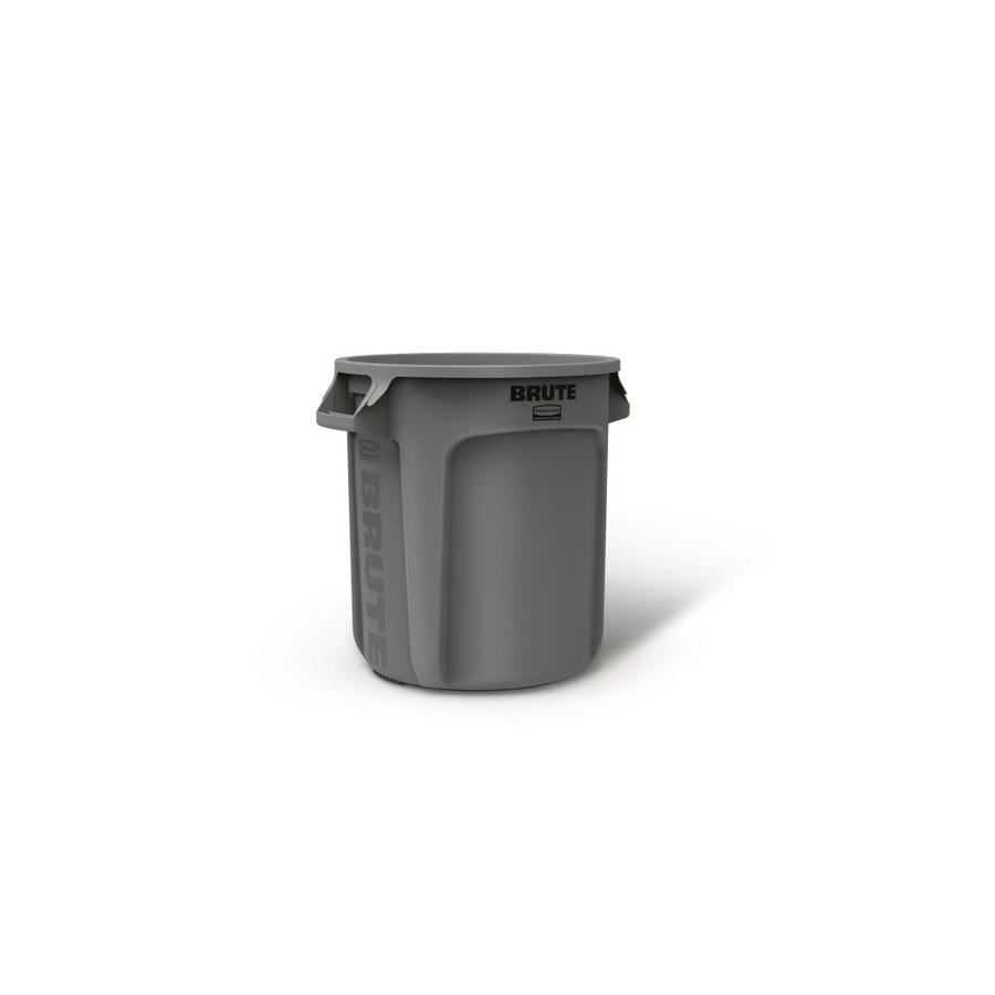 Rubbermaid Commercial Products Brute 10-Gallon Gray Plastic Trash Can