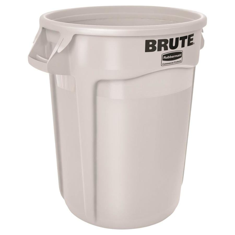 Rubbermaid Commercial Products Brute 10-Gallon White Plastic   Touchless Trash Can