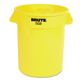 rubbermaid commercial products brute 20gallon yellow plastic trash can