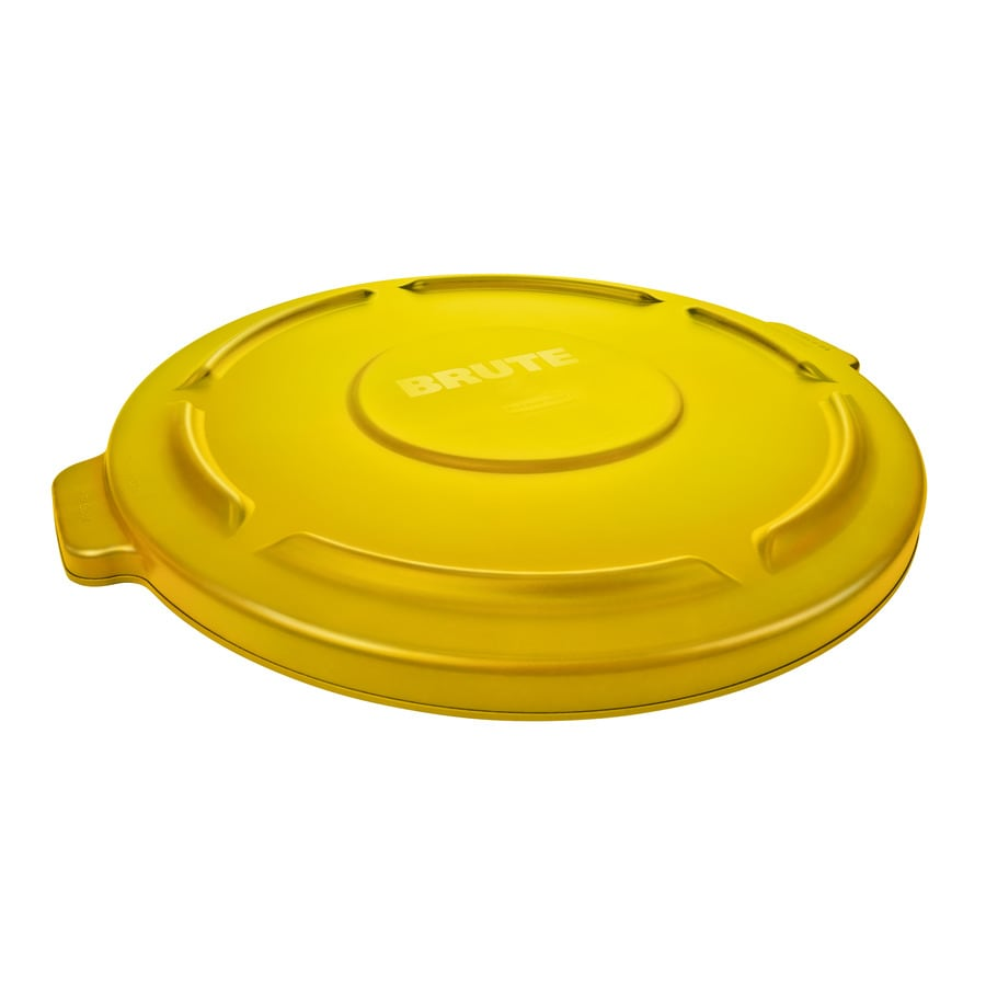 Rubbermaid Commercial Products Yellow Plastic Outdoor Trash Can Lid