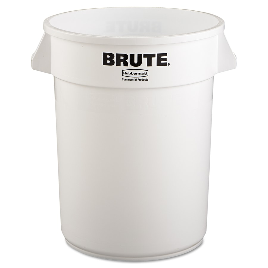 Rubbermaid Commercial Products Brute 32-Gallon White Plastic  Touchless Trash Can