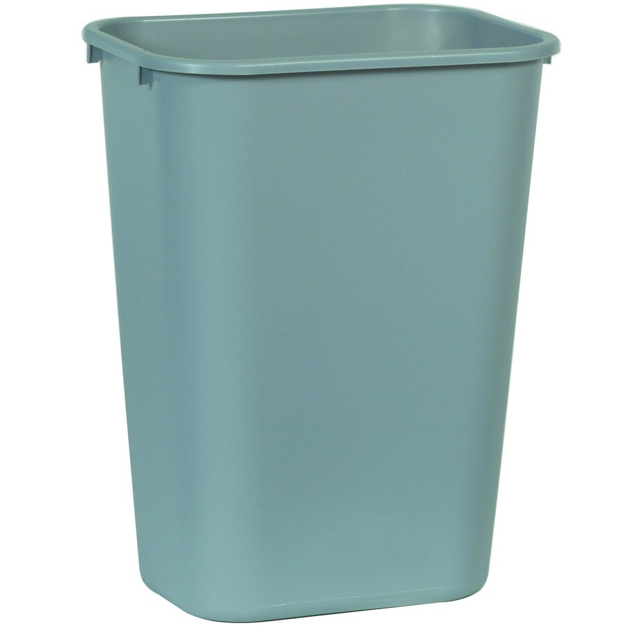 Rubbermaid Commercial Products Gray Plastic Wastebasket