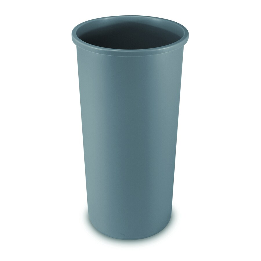 Rubbermaid Commercial Products Untouchable Round 22-Gallon Gray Indoor/Outdoor Garbage Can