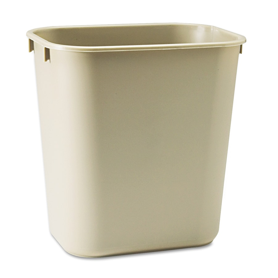 Shop rubbermaid commercial products beige plastic for Beige bathroom bin