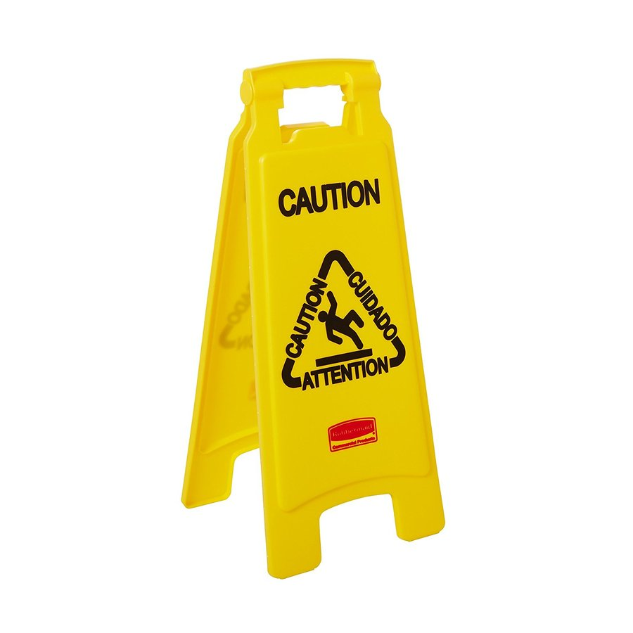 Rubbermaid Commercial Products Caution Floor Sign