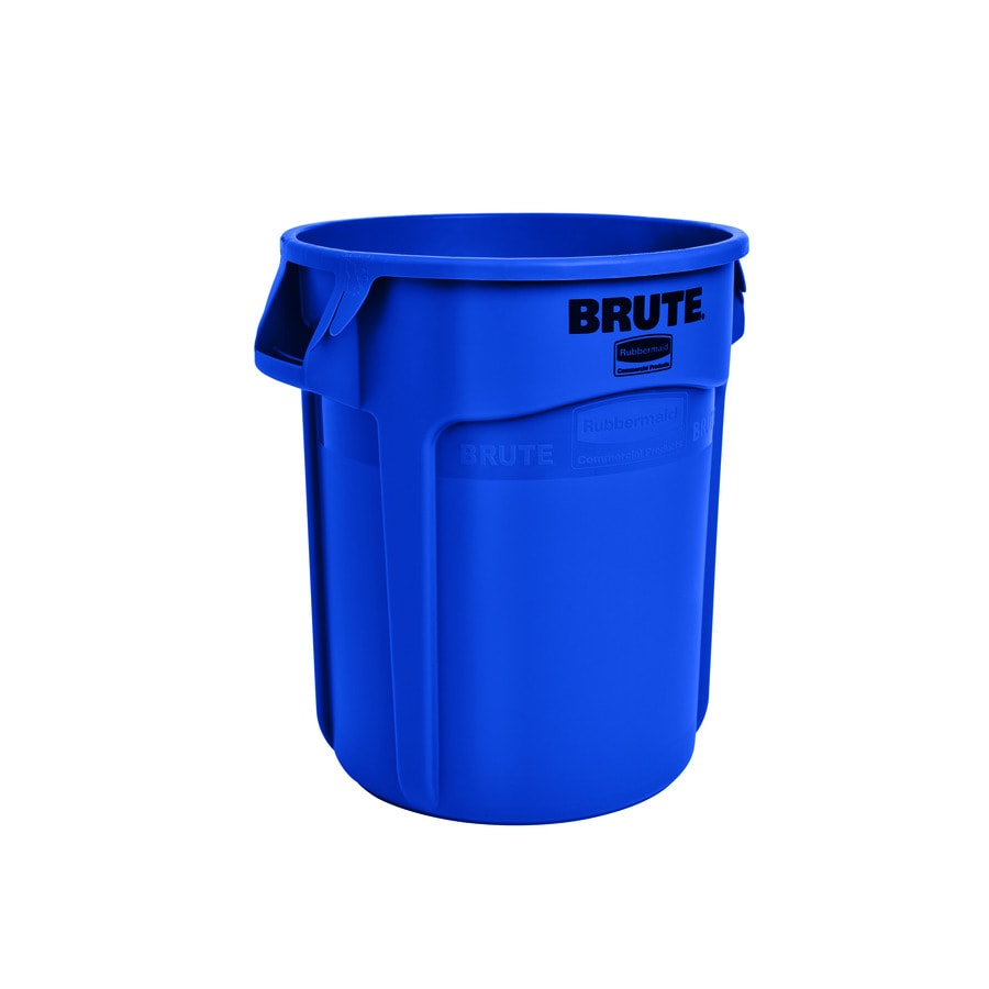 Rubbermaid Commercial Products Brute 20-Gallon Blue Plastic Trash Can