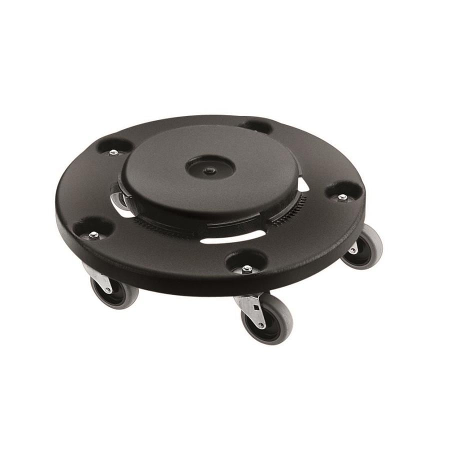 Rubbermaid Commercial Products 250-lb Black Plastic Trash Can Dolly