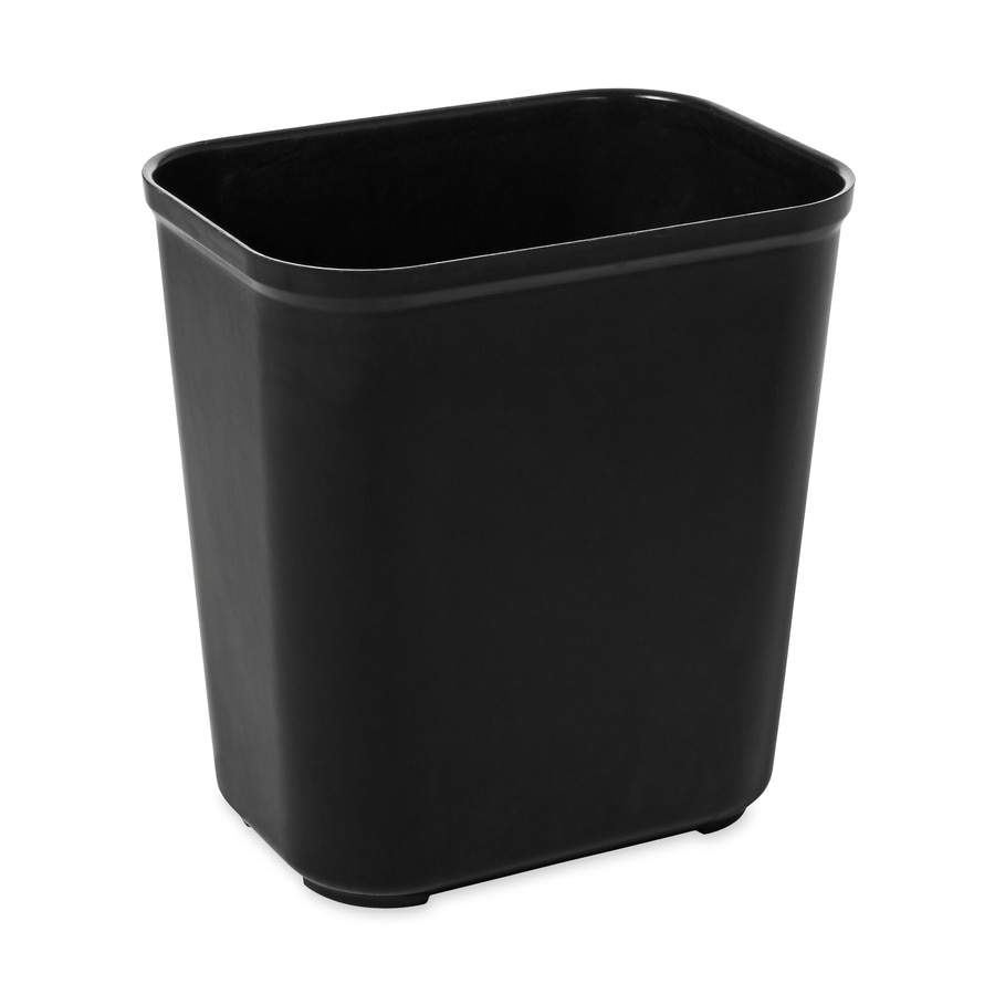 Rubbermaid Commercial Products Fire-Resistant Black Plastic Wastebasket