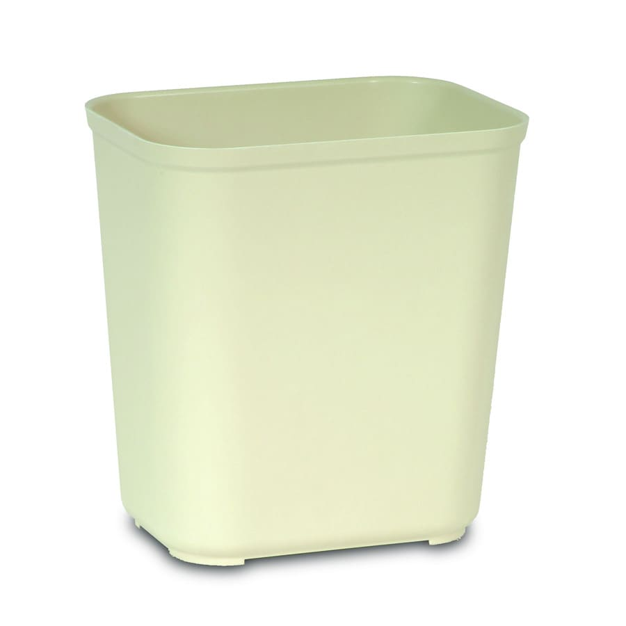 Rubbermaid Commercial Products Fire-Resistant 7-Gallon Beige Indoor Garbage Can