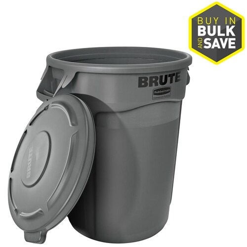 Rubbermaid Commercial Products BRUTE Heavy-Duty Round Waste//Utility Lid for 32-G