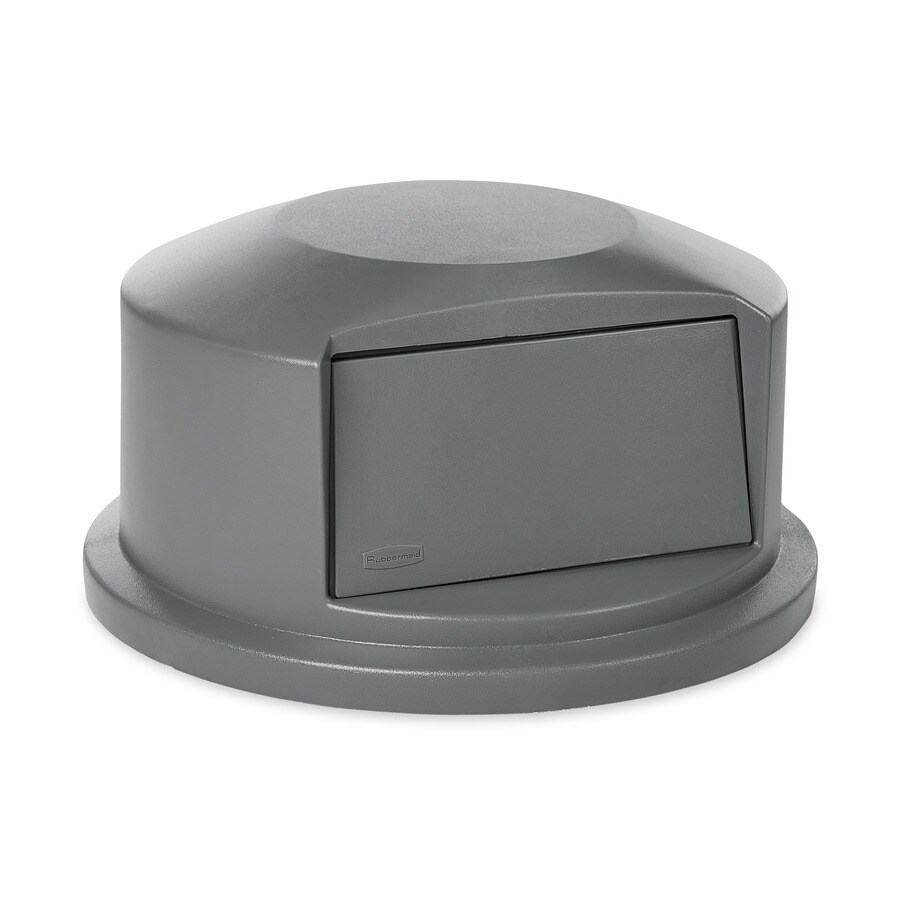 shop rubbermaid commercial products gray plastic outdoor trash can lid at. Black Bedroom Furniture Sets. Home Design Ideas