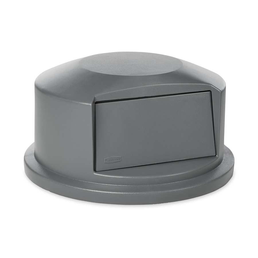 rubbermaid commercial products gray plastic outdoor trash can lid - Commercial Trash Cans