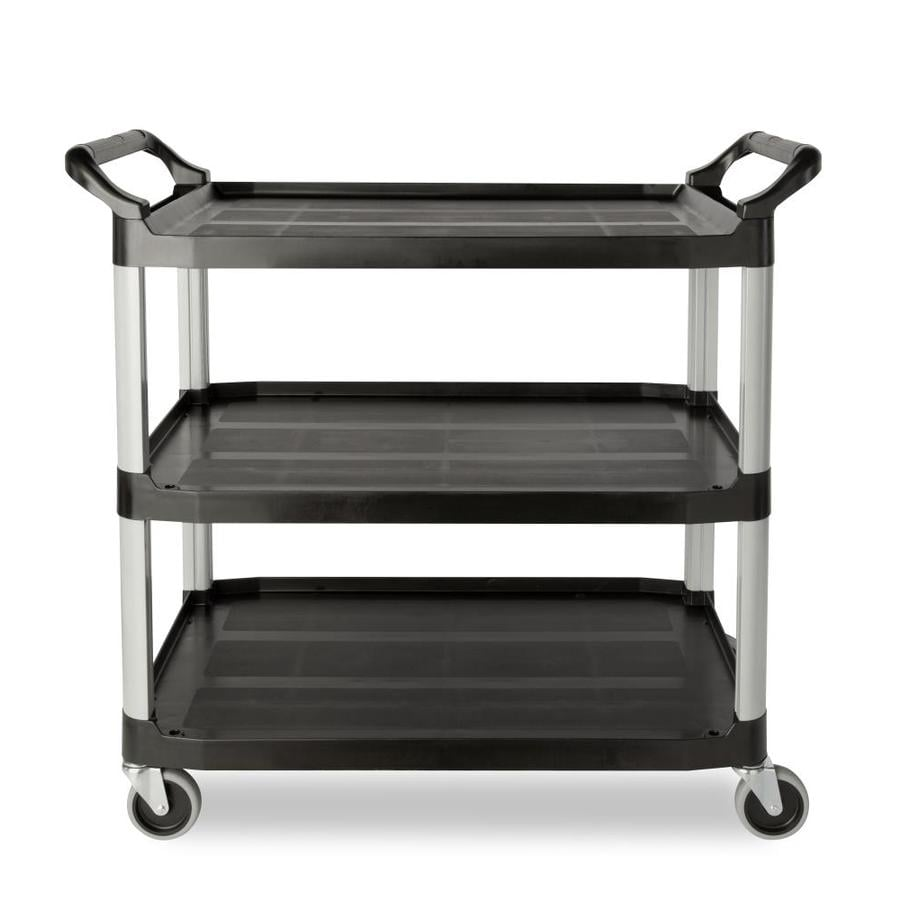 Go Home Black Industrial Kitchen Cart At Lowes Com: Shop Rubbermaid Commercial Products 37.8-in 0-Drawer