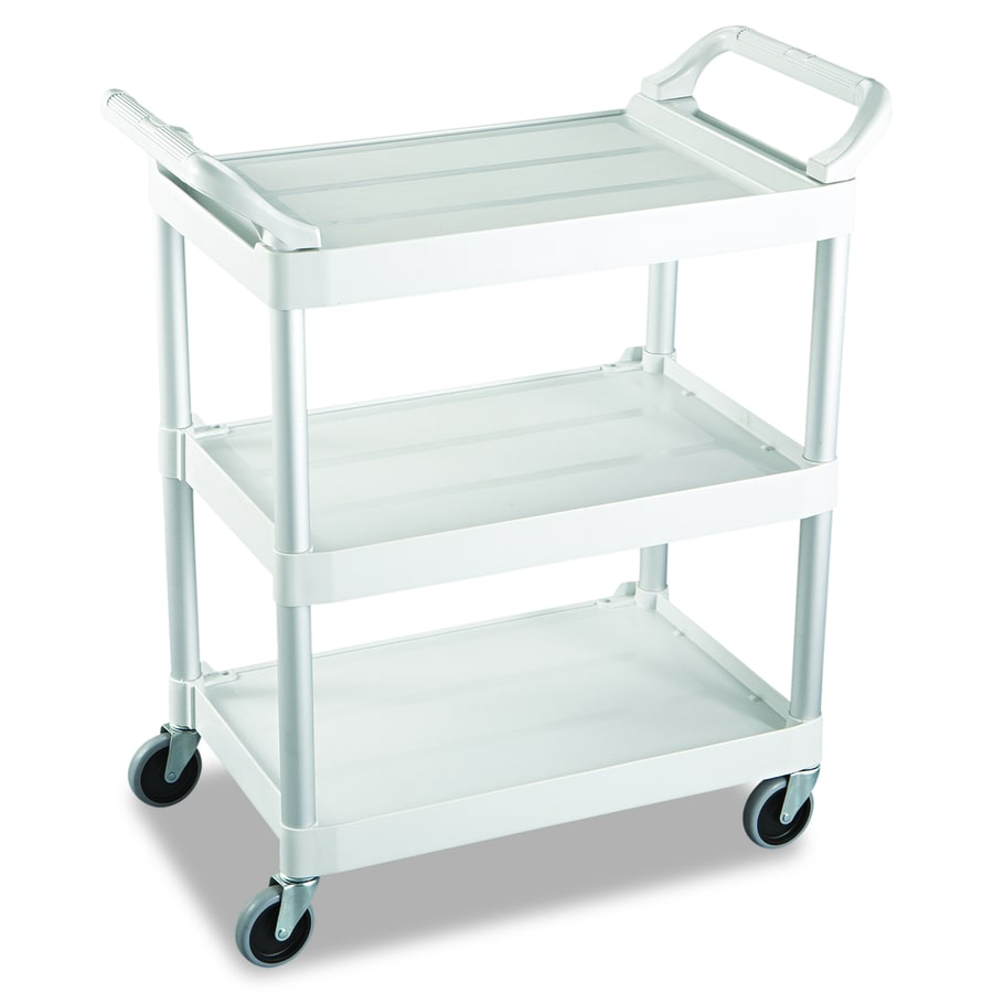Go Home Black Industrial Kitchen Cart At Lowes Com: Rubbermaid Commercial Products 37.8-in Utility Cart At