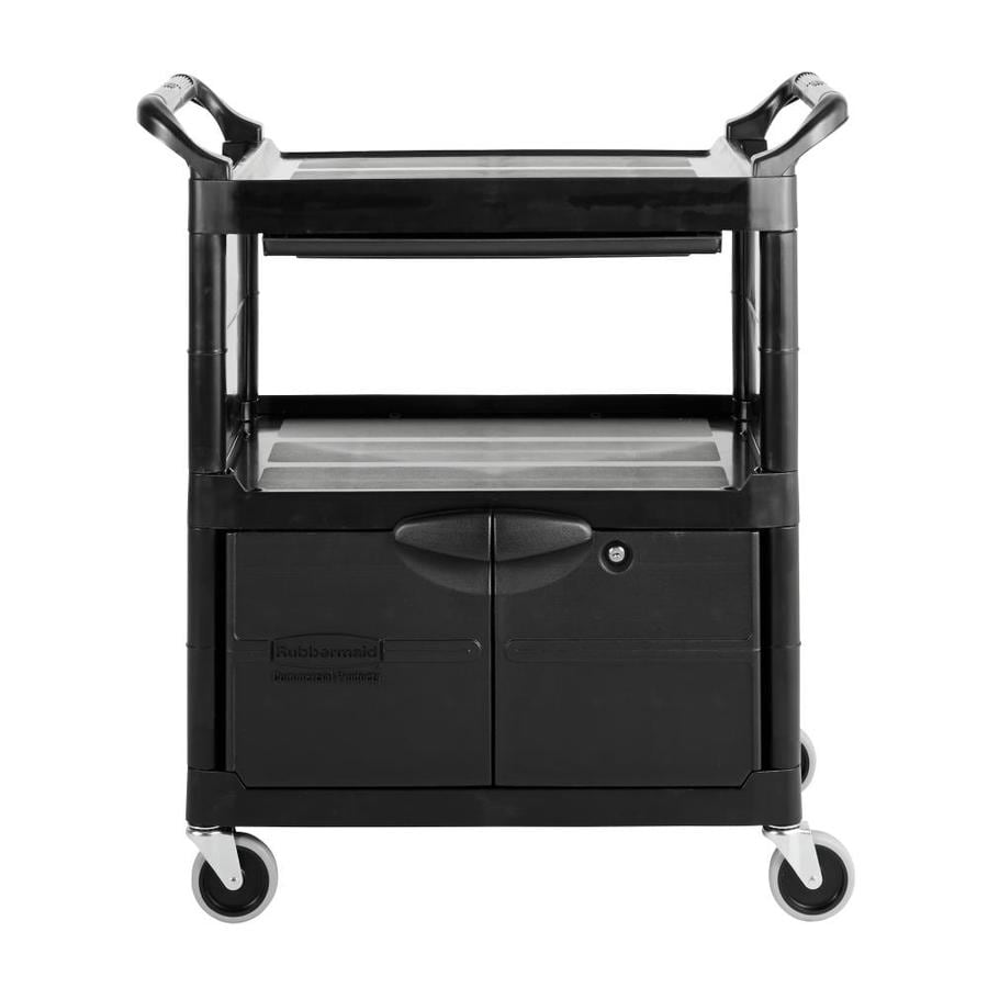 Go Home Black Industrial Kitchen Cart At Lowes Com: Shop Rubbermaid Commercial Products 37.75-in 1-Drawer
