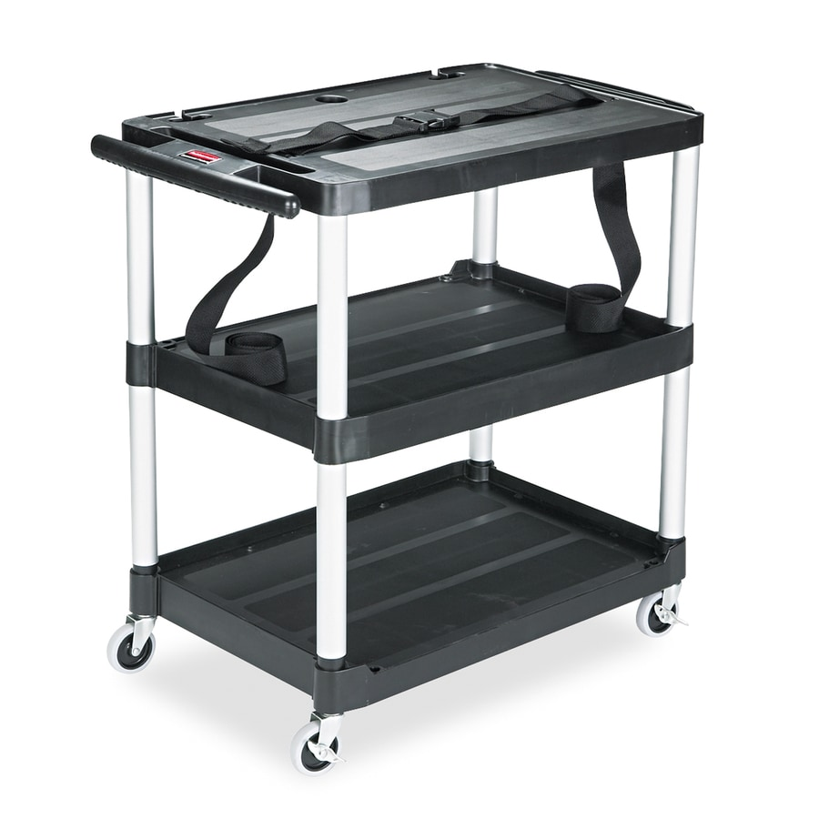 Alera Industrial Kitchen Carts At Lowes Com: Rubbermaid Commercial Products 32.12-in Utility Cart At