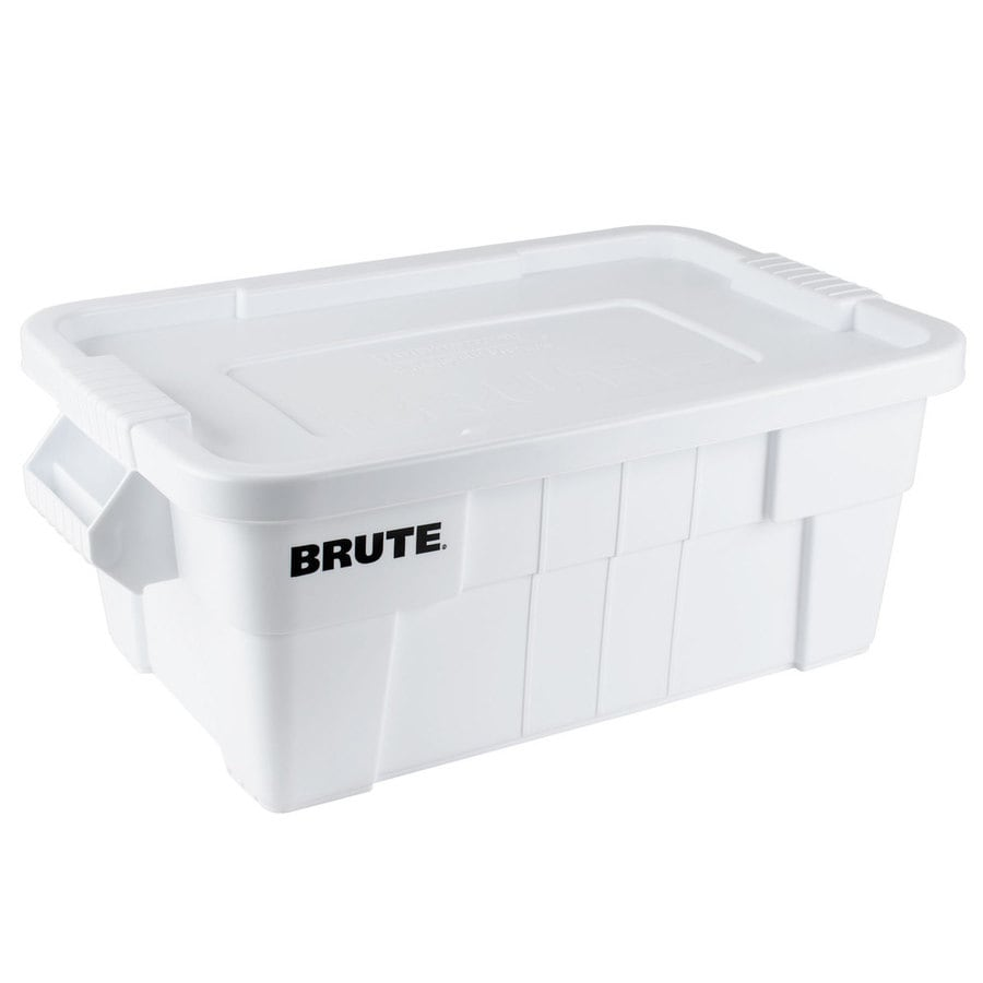 Shop Rubbermaid Commercial Products Brute 14 Gallon White Tote with