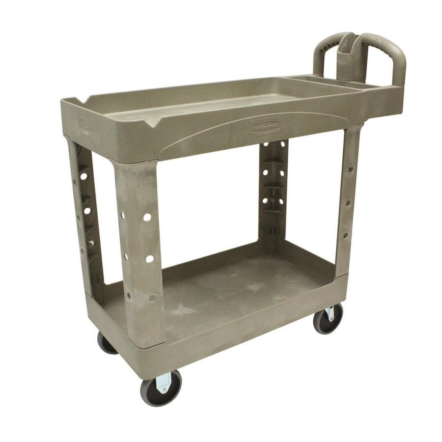 Go Home Black Industrial Kitchen Cart At Lowes Com: Shop Rubbermaid Commercial Products 38.875-in Utility Cart
